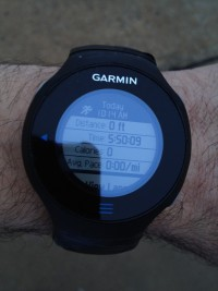 garmin after 50K at the basketball court