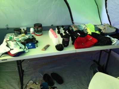 My tent table at Across the Years 2013