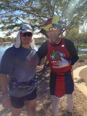 Chris Mavromatis with Ed Ettinghausen at Across the Years Race 2013